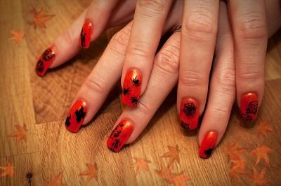 Halloween Nailart Stamping Herbst