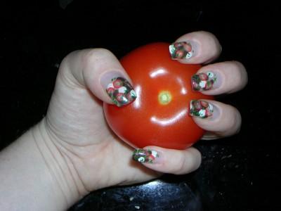 Fimo Tomate Morzarella Nailart