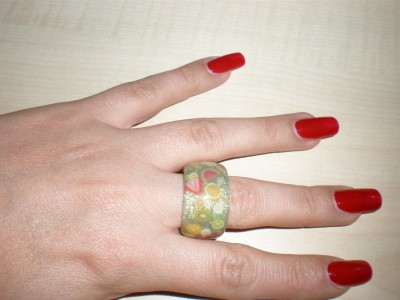Fruchtring Nailart Ring Fimo Früchte
