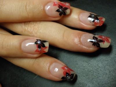 Stampin rot schwarz Nailart