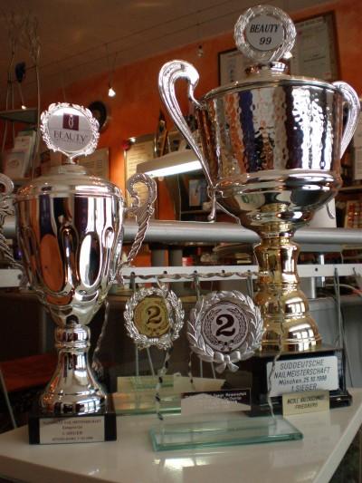 Naildesign Meisterschaften Pokale