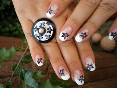 Nailart Ring Stamping auf French
