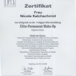 Zertifikat Permanent Make up