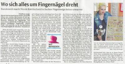 Zeitung dt.Meister Naildesign 2006