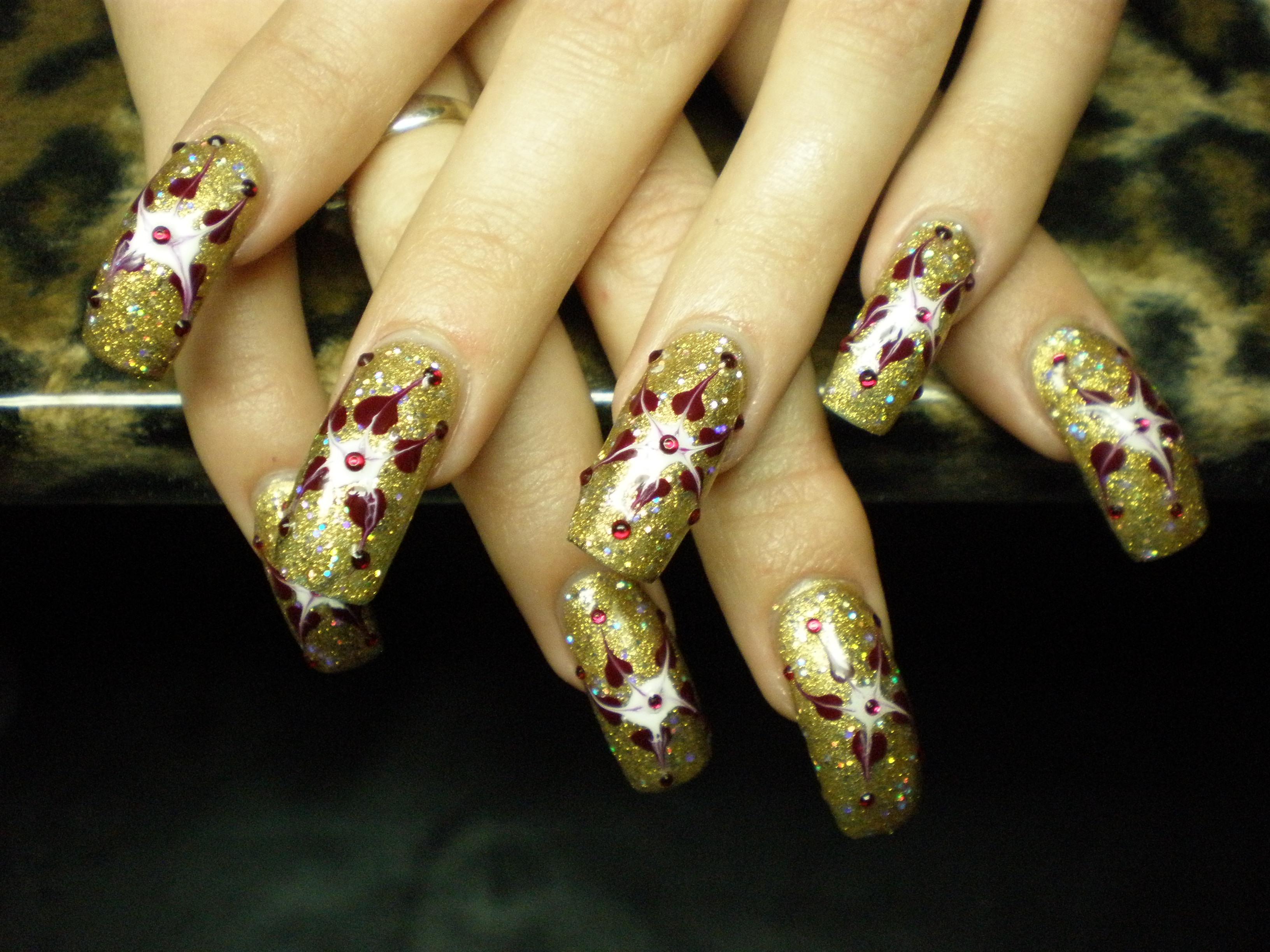 weihnachten nailart x mas gold planet nails pimp nails. Black Bedroom Furniture Sets. Home Design Ideas