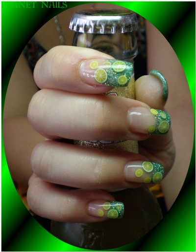 Green Lemon Nailart Fimo Früchte
