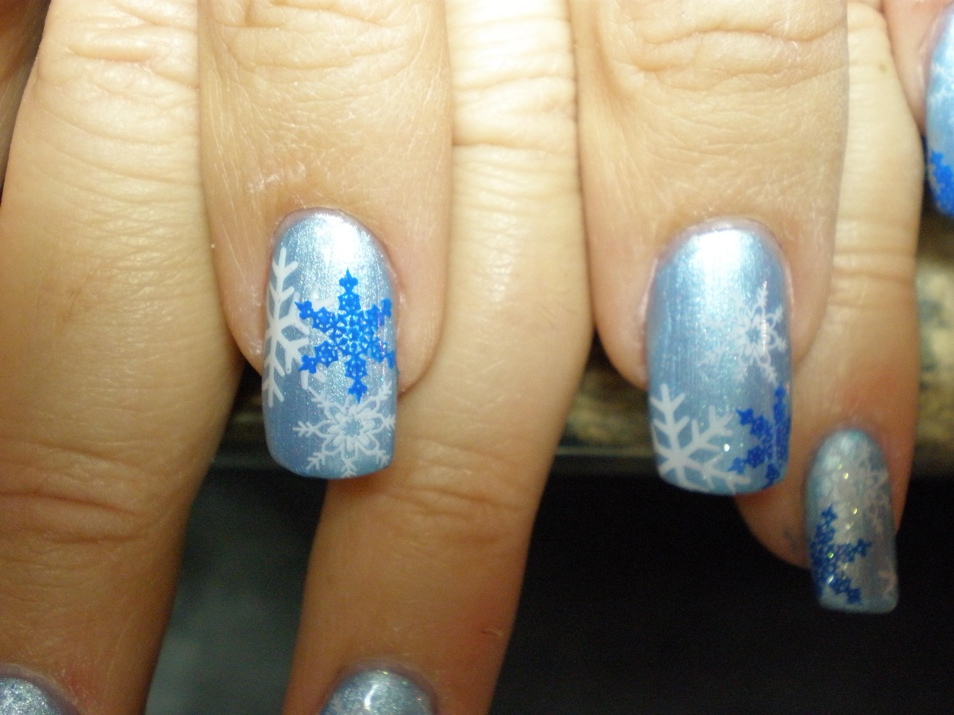 schnee winter nailart stamping weihnachten planet nails pimp nails. Black Bedroom Furniture Sets. Home Design Ideas