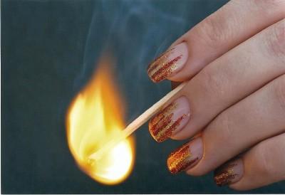 Flammen in Glitter rot gold orange