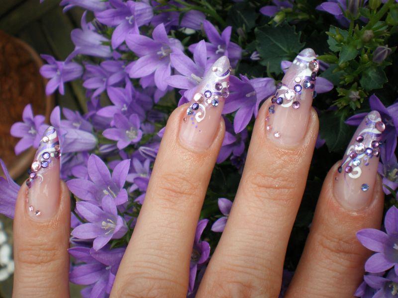meine neuen n gel nail art in flieder und rosa planet nails pimp nails. Black Bedroom Furniture Sets. Home Design Ideas
