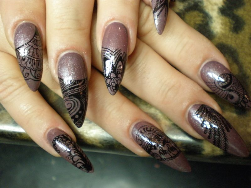 Stamping Planet Nails Pimp Nails