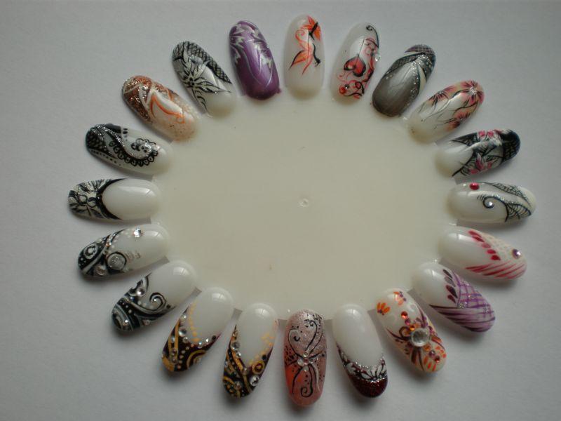 fruehling und sommer nail art verschiedene motive