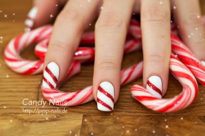 candy cane x mas weihnachts nail art planet nails pimp nails. Black Bedroom Furniture Sets. Home Design Ideas